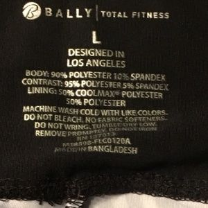 Bally Pants - Bally Total Fitness Capri Multi-brush stroke L